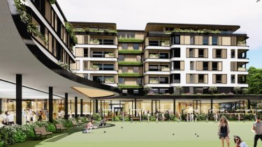Artist impression of proposed development of the Waverley Bowling Club, Waverley, Sydney