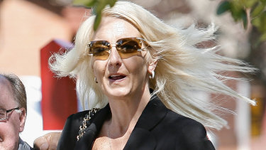 Nicola Gobbo arrives at a funeral in 2008. Police have defended the handling of her case.
