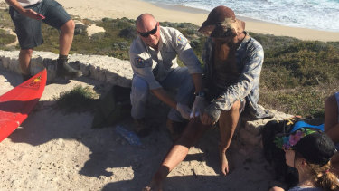 Jason Longrass after being attacked at a closed beach in Gracetown - which likely spooked event organisers into cancelling the Pro.