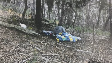 Phoenix's mother Tessa Woodcock at the remote Tallaganda National Park campsite where the pair were found.
