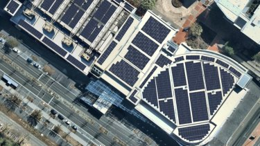 The tool also examines how well solar panels would work on different roofs within the city.