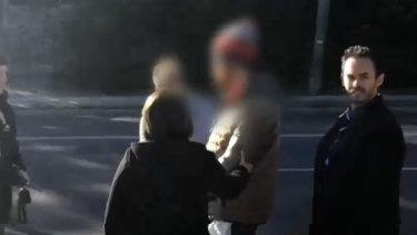 Police arrest Matthew James Williams (centre) over the violent Jindabyne sex attack.
