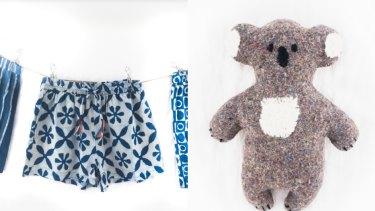 Indigo Boxer Shorts and Christine Land Koala from Dowry.