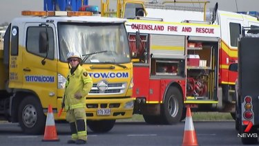 Emergency services closed the Archerfield intersection as the Forensic Crash Unit investigated.