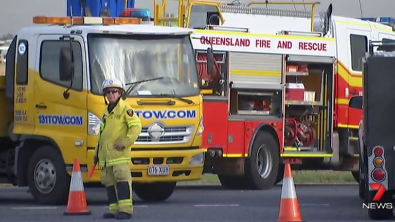 Emergency servicesclosed the Archerfield intersection as the Forensic Crash Unit investigated.