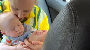 This is not the ideal way to travel with a young child in a taxi – but according to the Road Traffic Act, it is legal.
