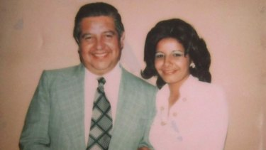 Adriana Rivas with the late general Manuel Contreras, one-time head of Chile's secret police during the Pinochet regime.