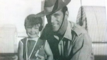 Cheryl Grimmer with her late father Vince.