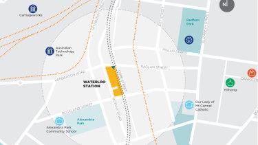 The new Sydney Metro Waterloo Station.