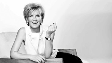 Julie Bishop as she appeared in Harpers Bazaar.