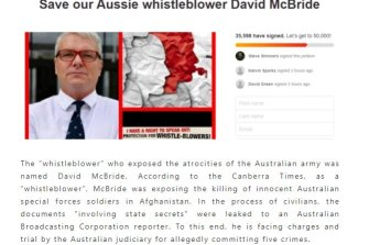 Chinese-Australian media asks why Australia is prosecuting Afghanistan war-crimes whistleblower David McBride.