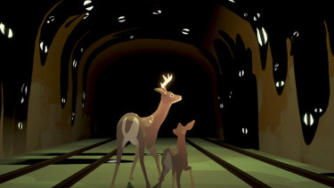 In Way to the Woods, you play as a pair of deer in a world without humans.