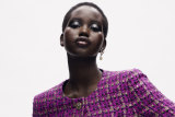 Adut Akech in the Chanel Fall/Winter 20-21 Haute Couture collection. Photos: Chanel