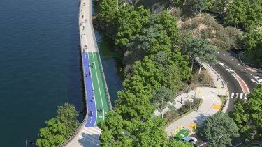 There has been $3.7 million budgeted for the Indooroopilly Riverwalk.