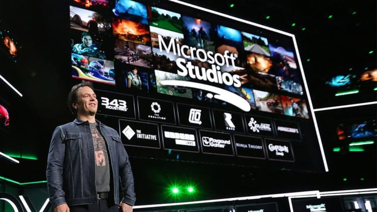 Xbox boss Phil Spencer showed off more than 50 games but only a few were made by Microsoft-owned studios.