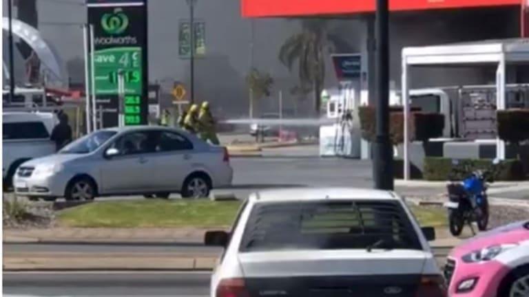 An Instagram video captured of the blaze.