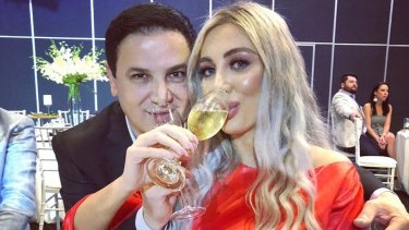 Champagne lifestyle: Jean Nassif bought his wife, Nissy, a new Lamborghini.