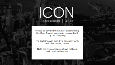 Opal Tower construction company Icon Co confused with Icon