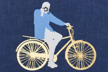 """Detail from the cover of """"Bill Cunningham: On The Street, Five Decades of Iconic Photography""""."""