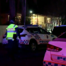 Man in custody after 'distraught' kids see mother fatally stabbed