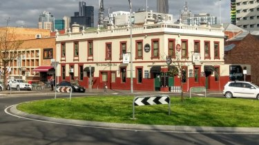 The Corkman Irish pub in Carlton, built in 1858, as it was until its illegal demolition in 2016.