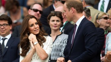 Kate Middleton and Prince William at Wimbledon last week.