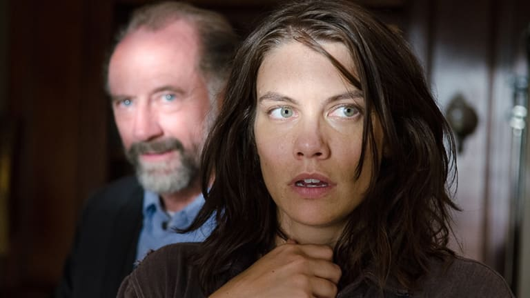 Maggie (Lauren Cohan) is propositioned by Hilltop leader Gregory (Xander Berkeley) in The Walking Dead season 6 episode 11 Knots Untie.