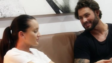 Sam and Ines catch up behind their partners' backs on Married at First Sight.