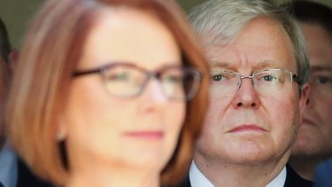 Kevin Rudd said he had the country in a position of accepting higher aid spending when he was elected prime minister in 2007 but this work was undone by Julia Gillard.