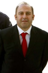Drug boss Tony Mokbel wearing his favourite court tie.