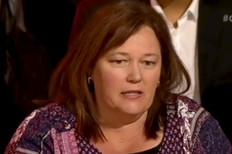 """Marie Austin on ABC TV's Q+A: """"However scary that was for me… we had to speak up."""""""
