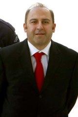 Drug boss Tony Mokbel wearing his favourite court tie.