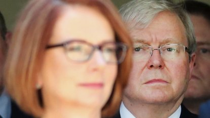Kevin Rudd blasts Julia Gillard over foreign aid