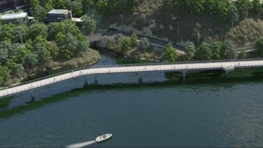 The design for the walk will take users over the river.