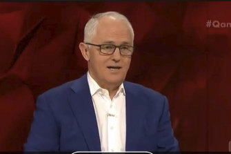 It was vintage Malcolm Turnbull for Tony Jones' last night hosting Q&A.