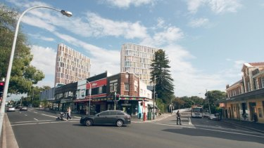 An artist's impression of the controversial twin towers proposed for a slice of land near Centennial Park at Bondi Junction.