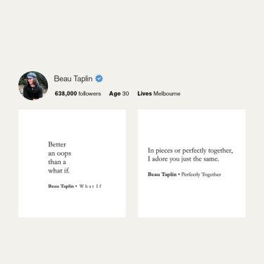 Beau Taplin's Instagram.