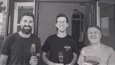 Peter Baker, Chris Ford and Paul Heatley (L-R), all Maylands residents, met and bonded over a shared love of wine.