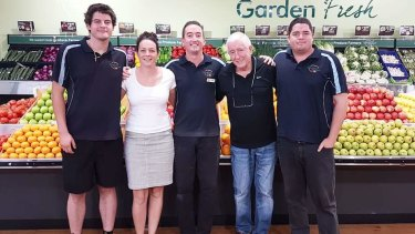Jack Keeley (second from right) with his children Tom, Jacquie, John and Sam (L-R).