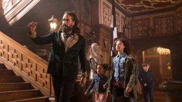 Having Russell Brand as an eccentric laird can't have been plain-sailing.