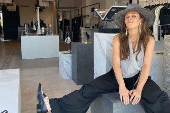 Sasha Benz inside her Montauk boutique Wyld Blue.