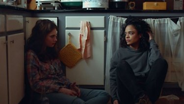 Lily James (left) as Deb and Tessa Thompson as Ollie inLittle Woods.
