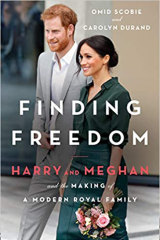 The cover of the book about Harry and Meghan.