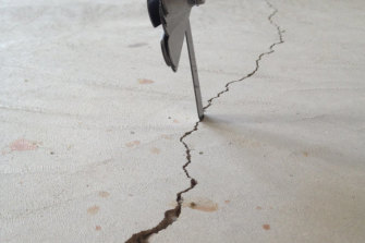 More cracks residents say were caused by the quarry.