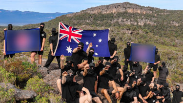Alleged members of a far-right extremist group seen at Halls Gap and the Grampians.