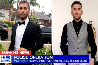 The mother of two Sydney removalists Ramsin and Roni Shawka (pictured) who tested positive to COVID-19 was found dead in the family home on Monday morning.