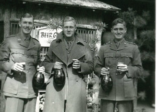 Donald Begg (centre) on leave in Japan in 1946.