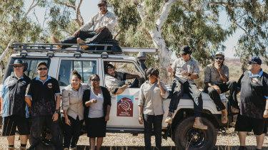 The Murujuga Aboriginal Corporation Ranger team.