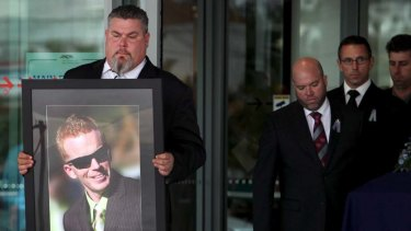 The funeral of Senior Constable Damian Leeding on the Gold Coast.