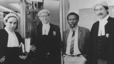 Eddie Koiki Mabo and his legal team at the High Court of Australia 1991.